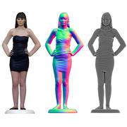 Kvinnlig 3D-skanning 3d model