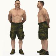 Erkek vücut geliştiricisi 3d model