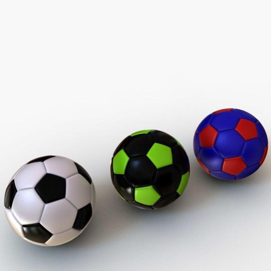 Palloni da calcio royalty-free 3d model - Preview no. 1