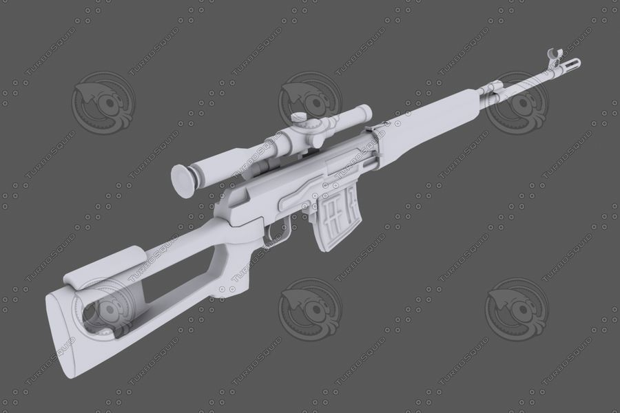 SVD royalty-free 3d model - Preview no. 3