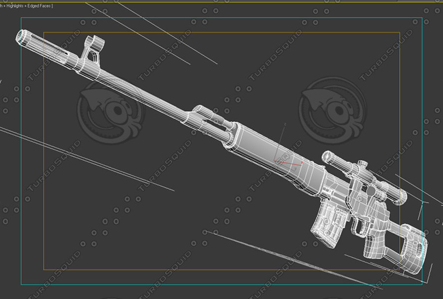 SVD royalty-free 3d model - Preview no. 2