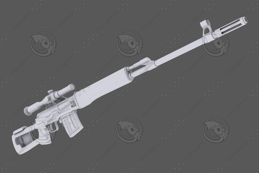 SVD royalty-free 3d model - Preview no. 5