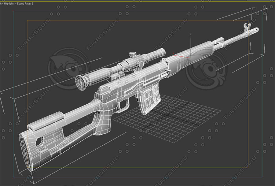 SVD royalty-free 3d model - Preview no. 7