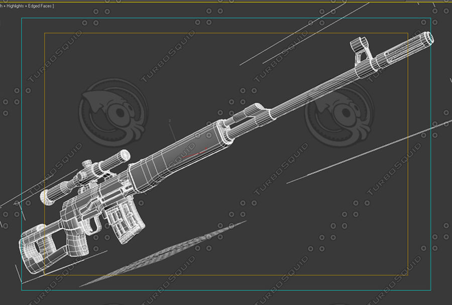 SVD royalty-free 3d model - Preview no. 9