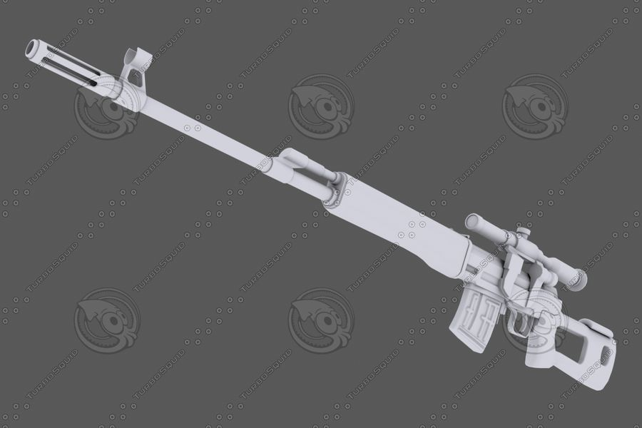 SVD royalty-free 3d model - Preview no. 6