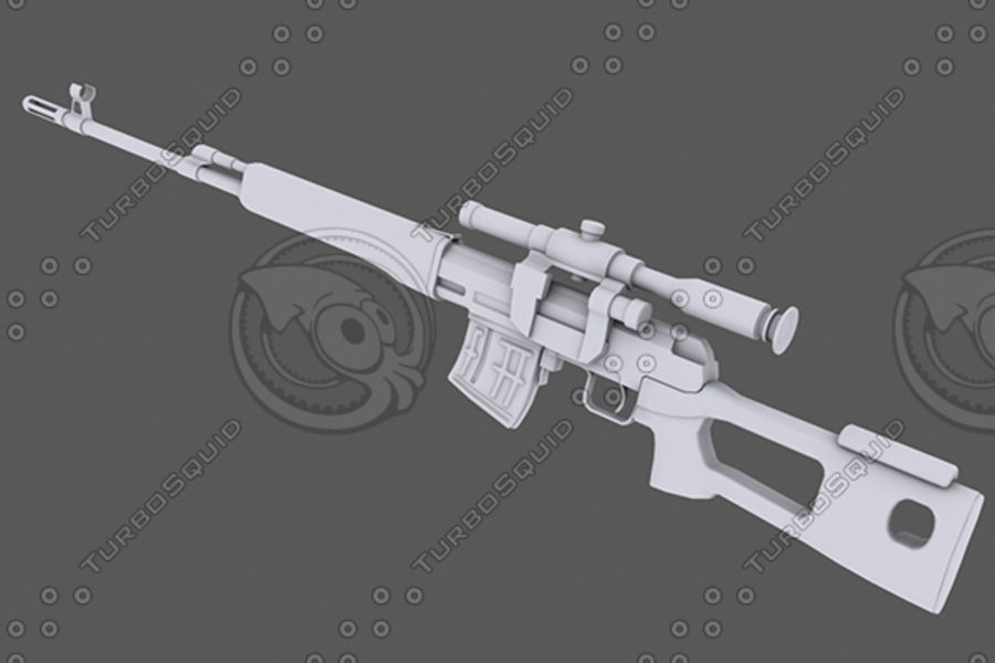 SVD royalty-free 3d model - Preview no. 1