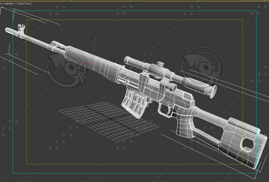 SVD royalty-free 3d model - Preview no. 8