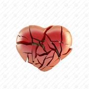 Coração partido 3d model