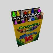 Коробка с карандашами 3d model