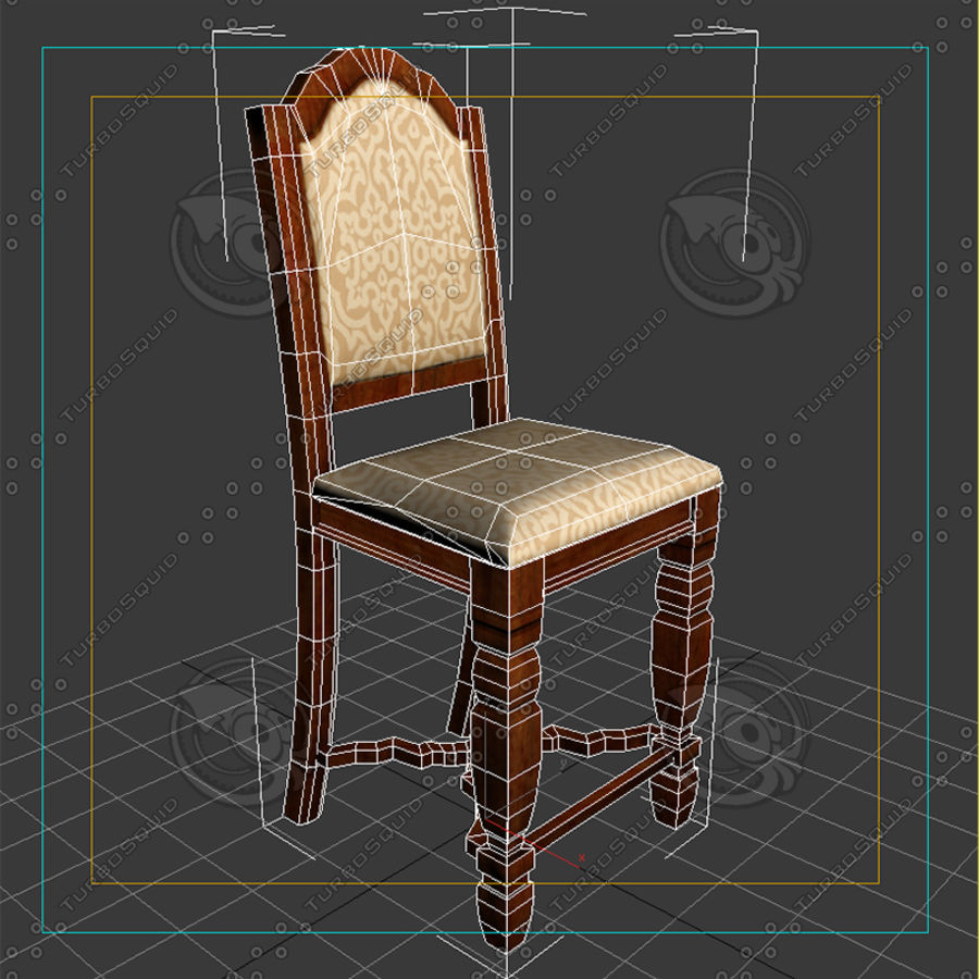 Chair01 royalty-free 3d model - Preview no. 7