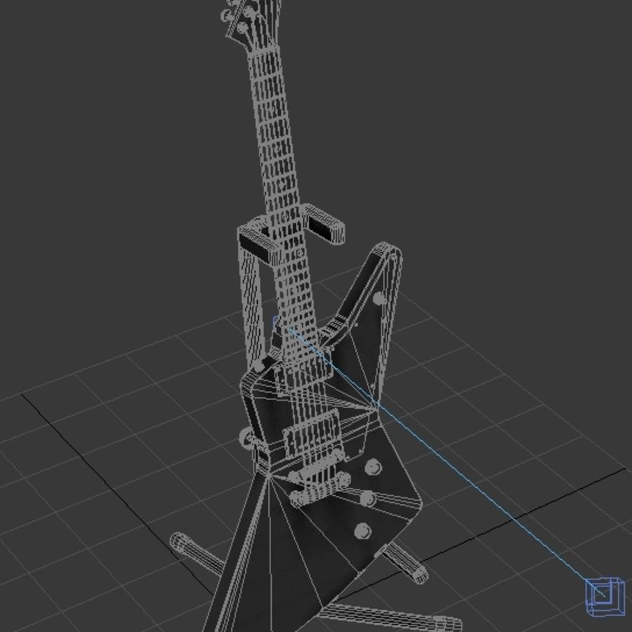 Epiphone Korina Explorer royalty-free 3d model - Preview no. 2