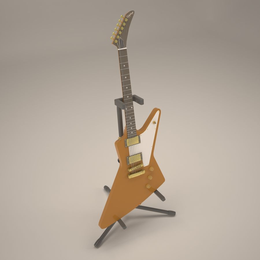 Epiphone Korina Explorer royalty-free 3d model - Preview no. 1