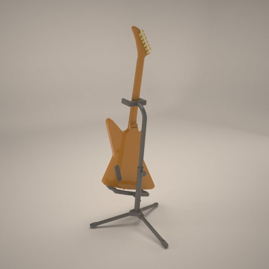 Epiphone Korina Explorer royalty-free 3d model - Preview no. 6