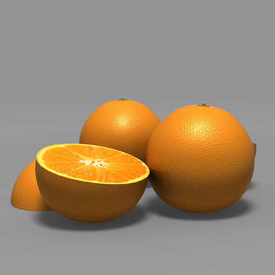 Orange royalty-free 3d model - Preview no. 7