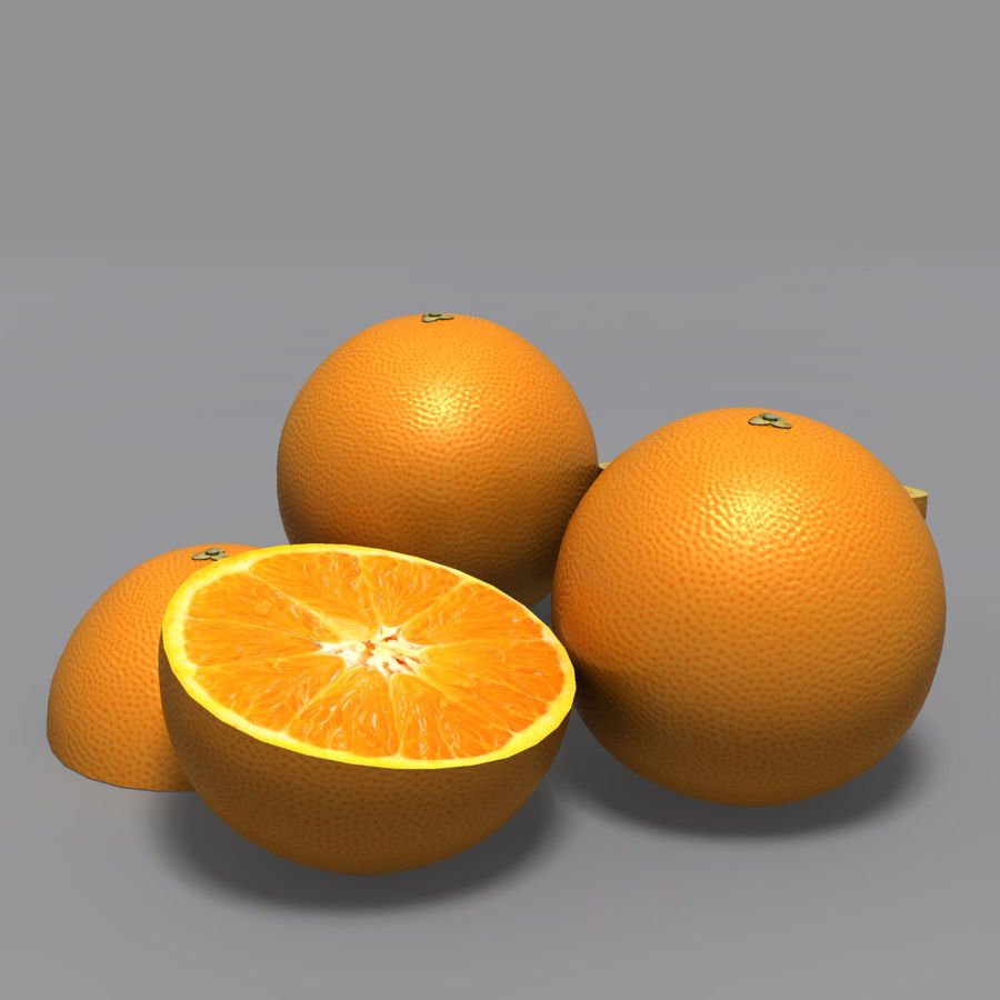 Orange royalty-free 3d model - Preview no. 2