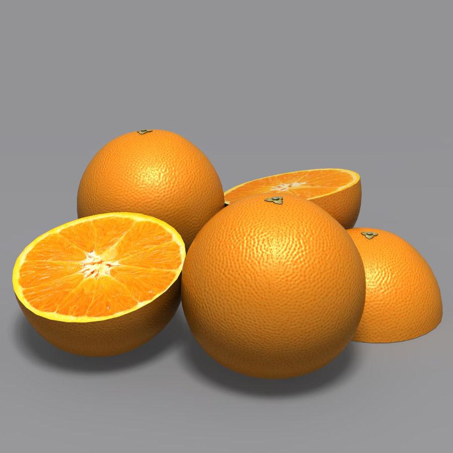 Orange royalty-free 3d model - Preview no. 4