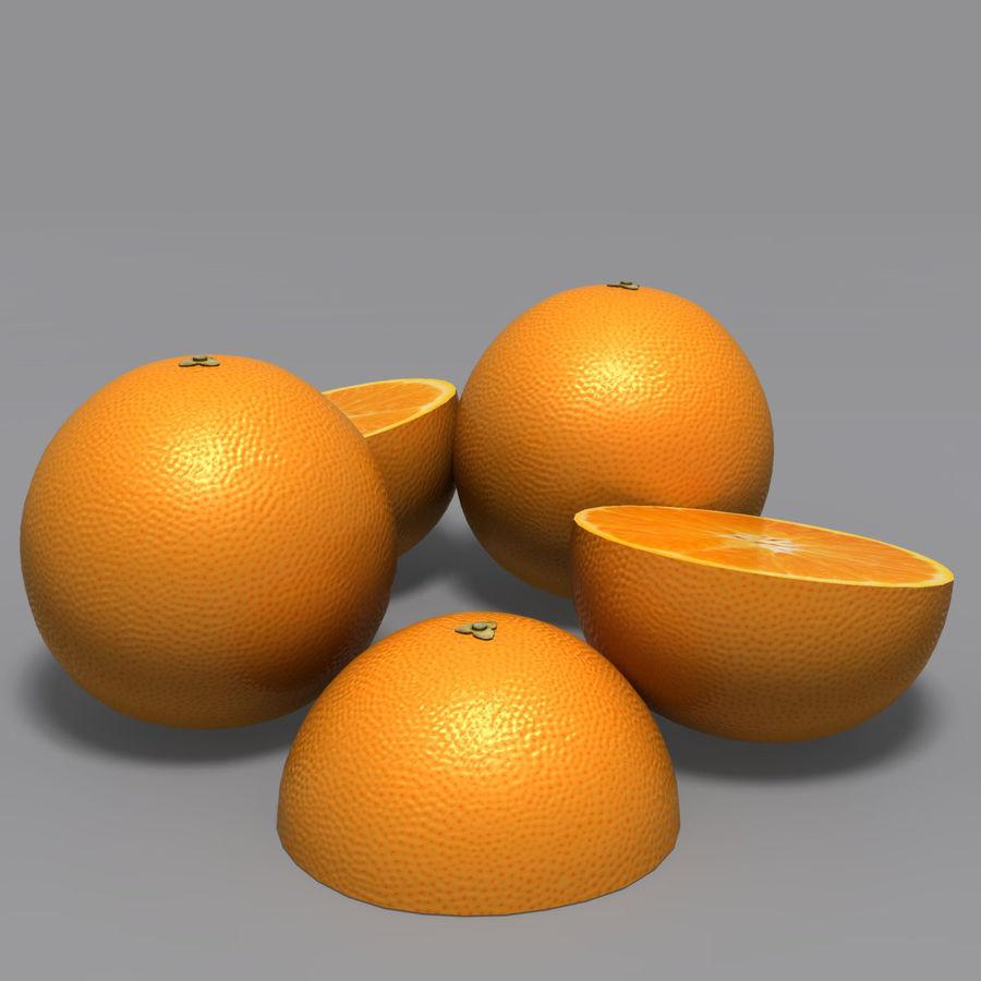 Orange royalty-free 3d model - Preview no. 3