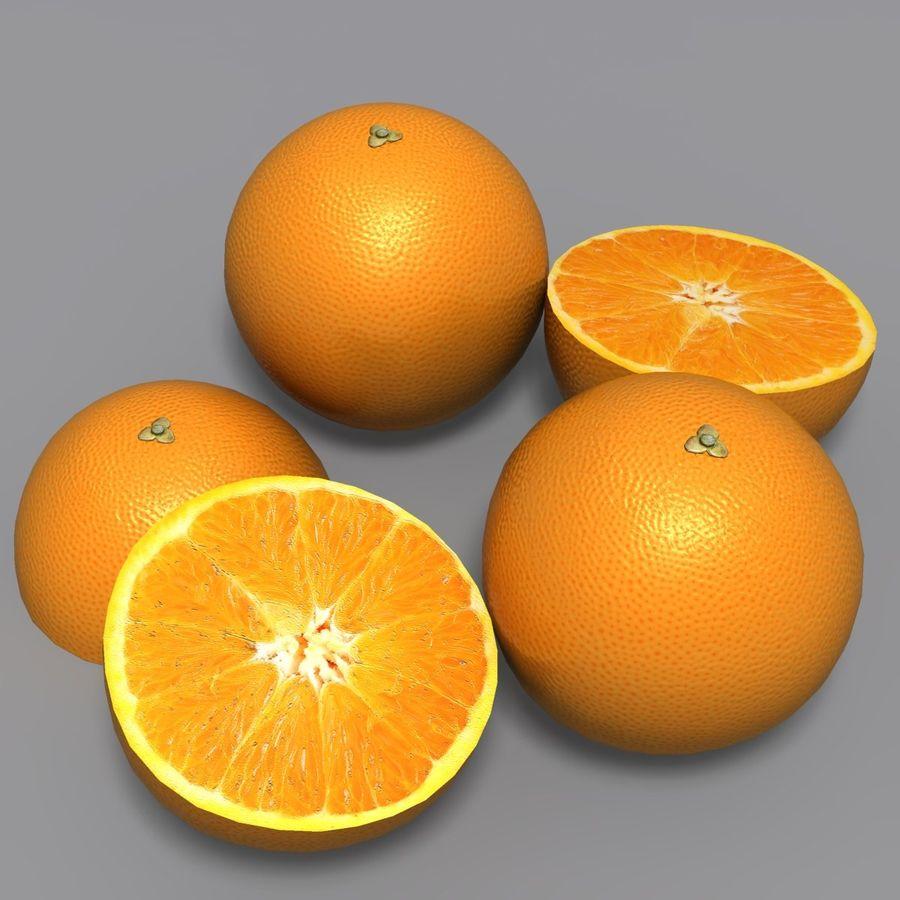 Orange royalty-free 3d model - Preview no. 6