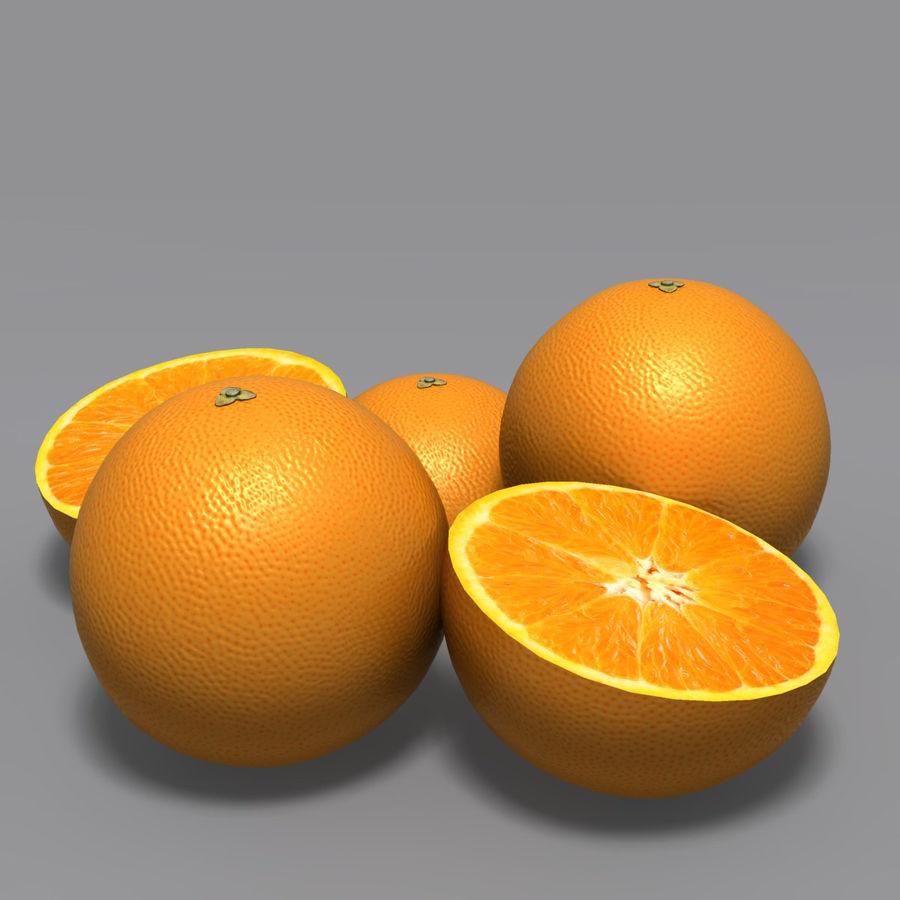 Orange royalty-free 3d model - Preview no. 5