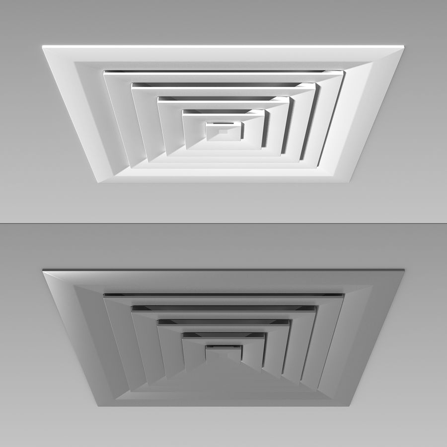 Air Vent Ceiling royalty-free 3d model - Preview no. 9