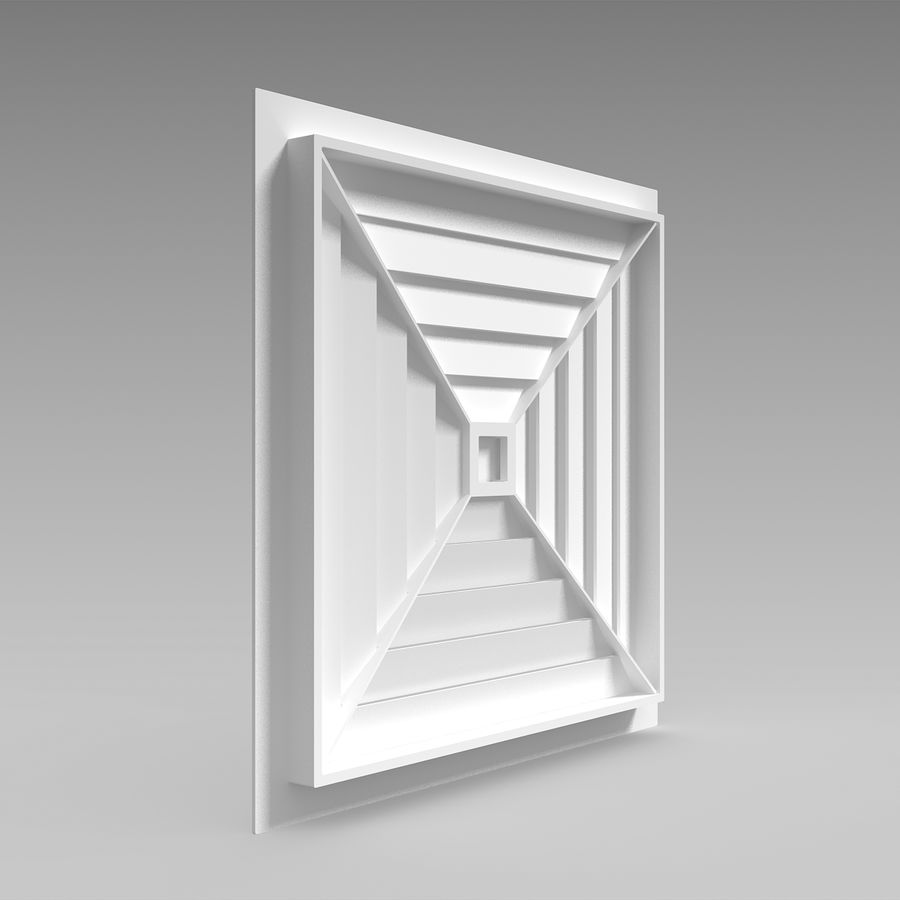 Air Vent Ceiling royalty-free 3d model - Preview no. 5