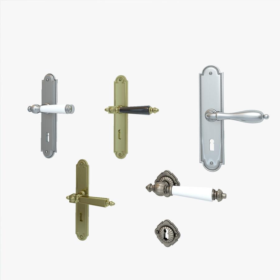 Classic Door Handles royalty-free 3d model - Preview no. 1