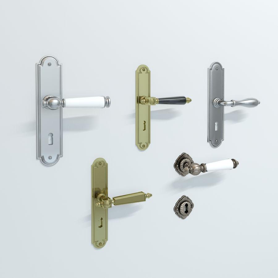 Classic Door Handles royalty-free 3d model - Preview no. 4