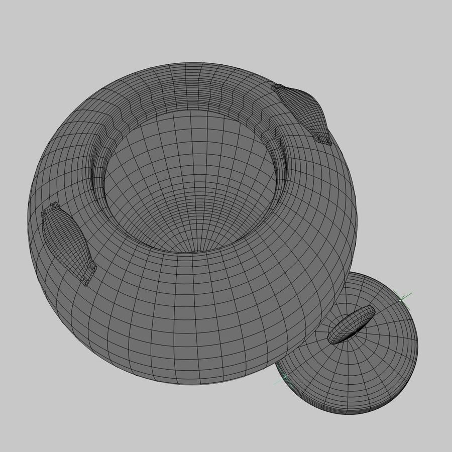 Cookie Jar royalty-free 3d model - Preview no. 7