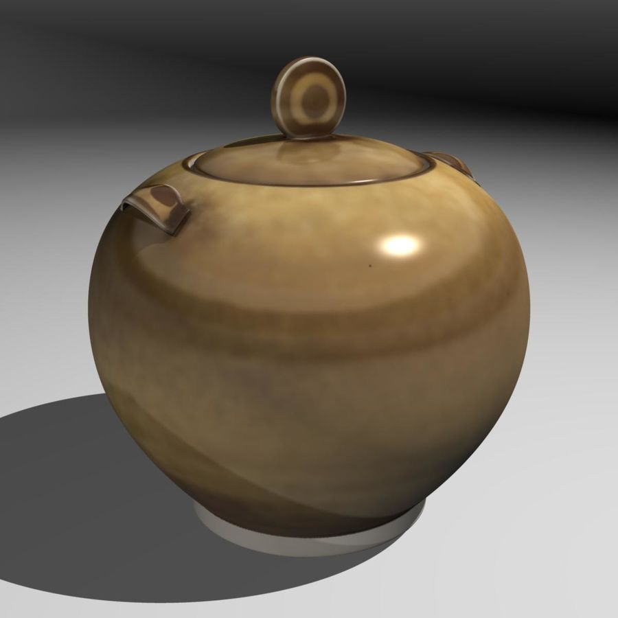 Cookie Jar royalty-free 3d model - Preview no. 4