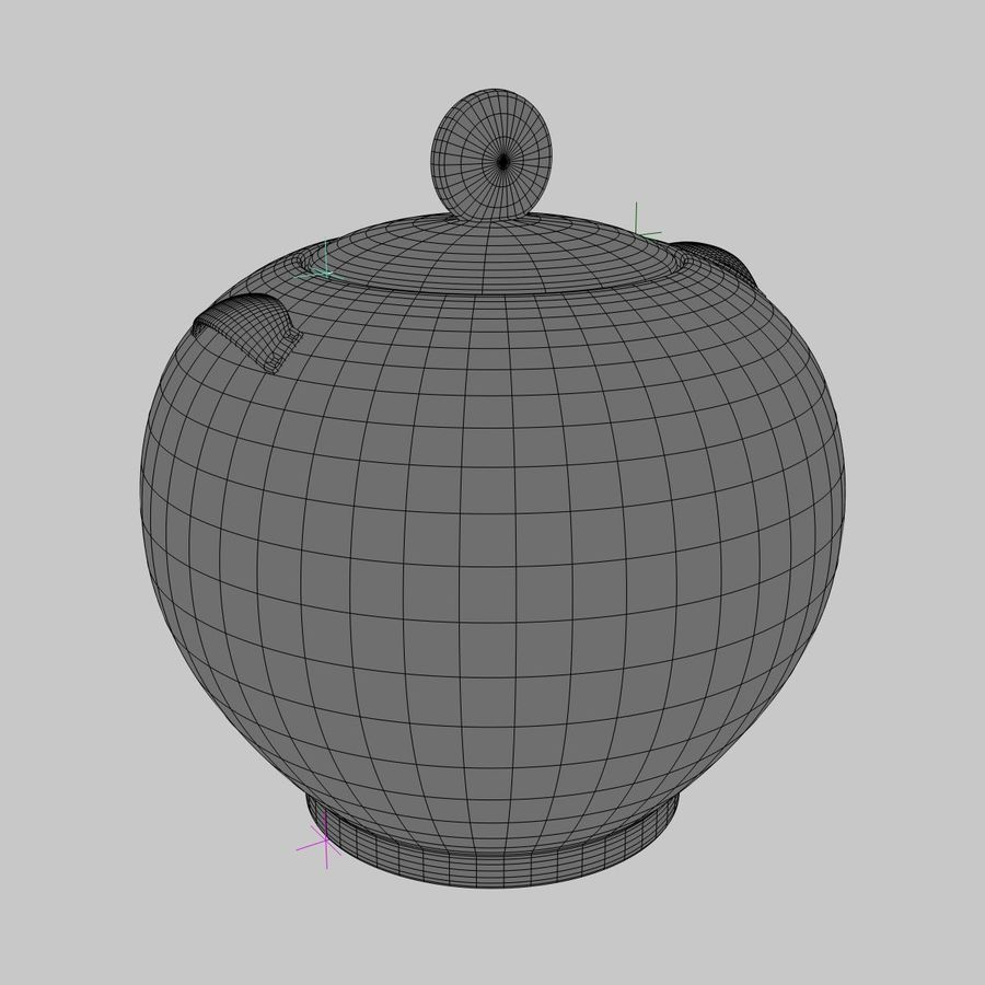 Cookie Jar royalty-free 3d model - Preview no. 5