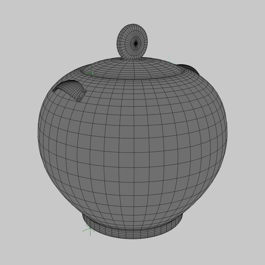 Cookie Jar royalty-free 3d model - Preview no. 3