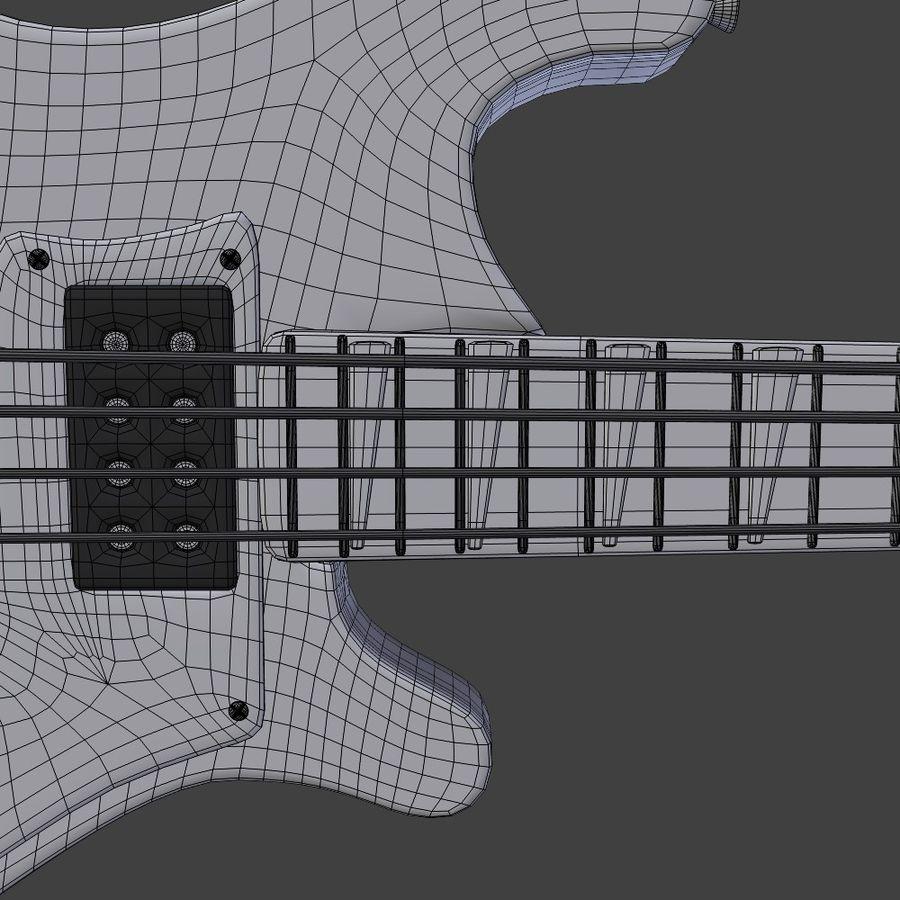 Бас-гитара royalty-free 3d model - Preview no. 11