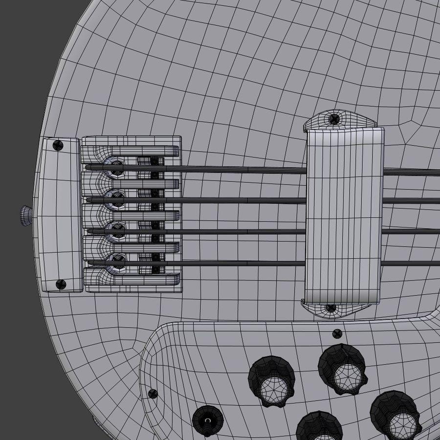 Бас-гитара royalty-free 3d model - Preview no. 13