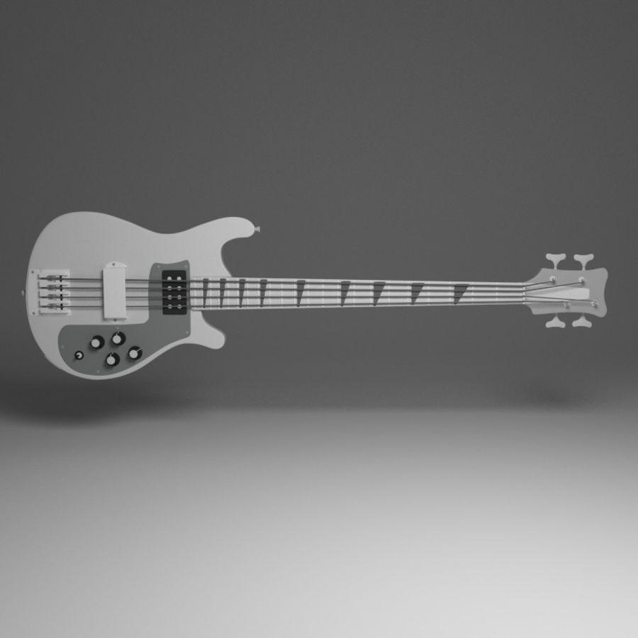 Бас-гитара royalty-free 3d model - Preview no. 2