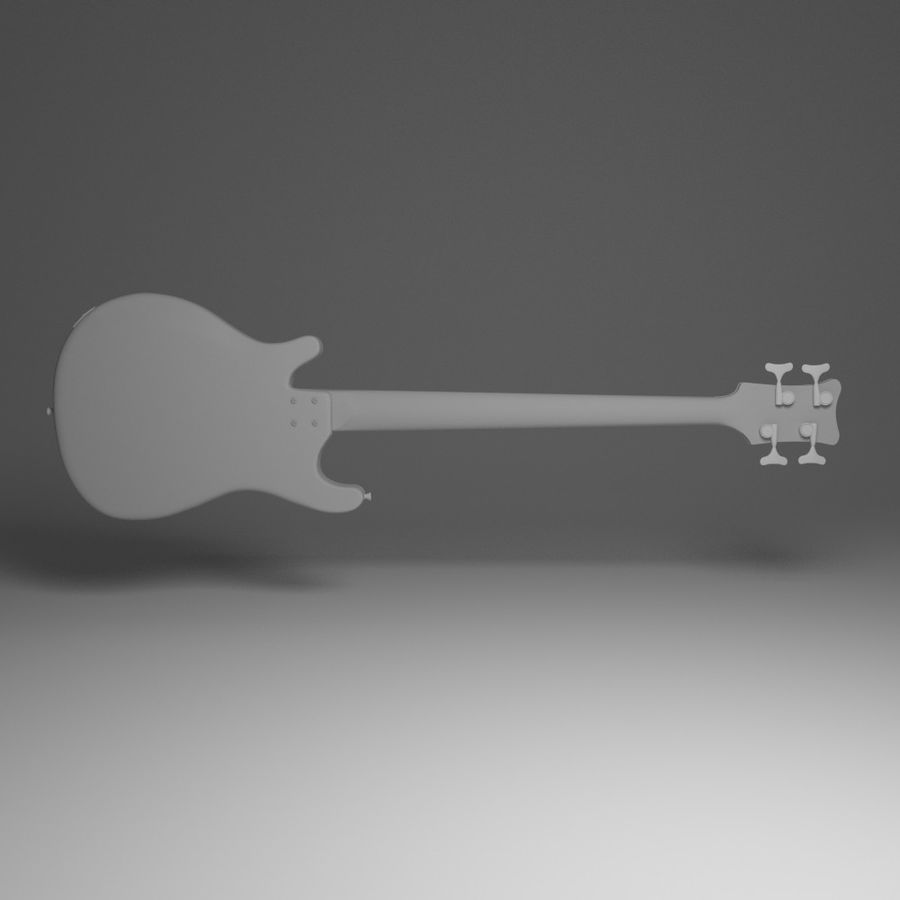 Бас-гитара royalty-free 3d model - Preview no. 3