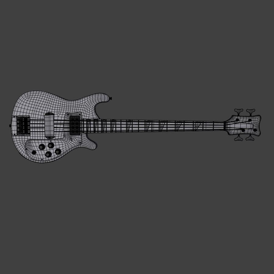 Бас-гитара royalty-free 3d model - Preview no. 6