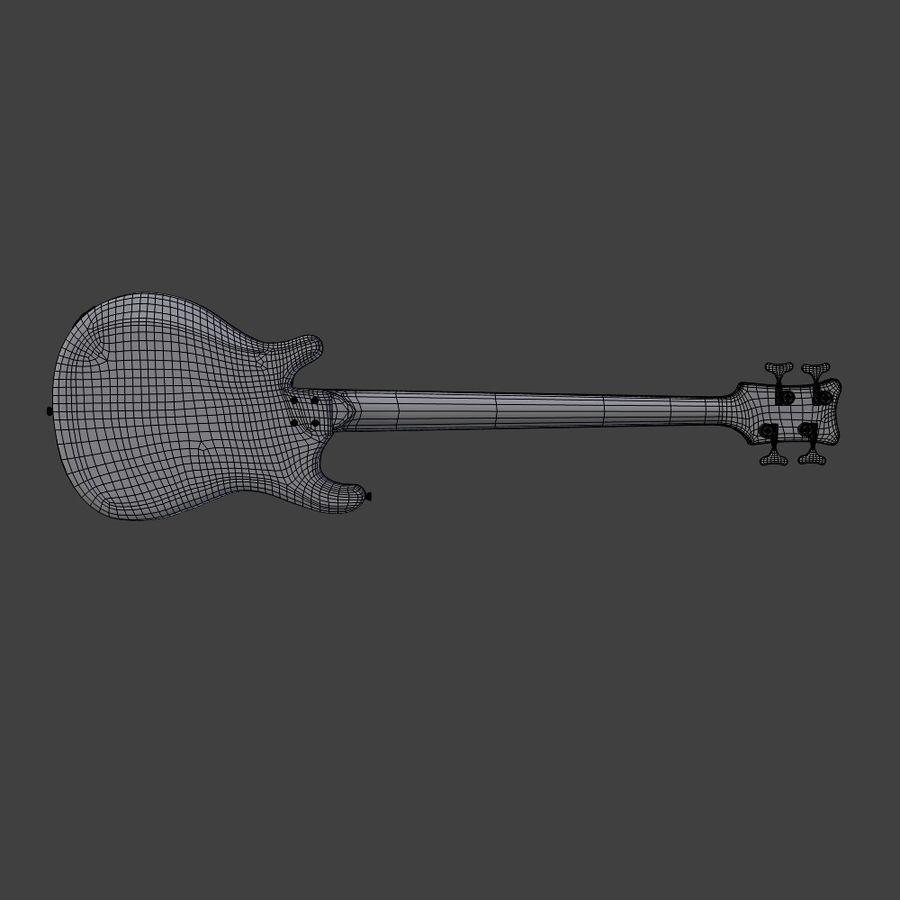 Бас-гитара royalty-free 3d model - Preview no. 7