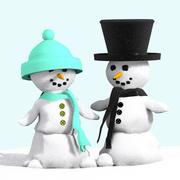 雪だるま2 3d model