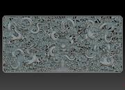 Dynastie Qing Five dragon relief décoratif 3d model