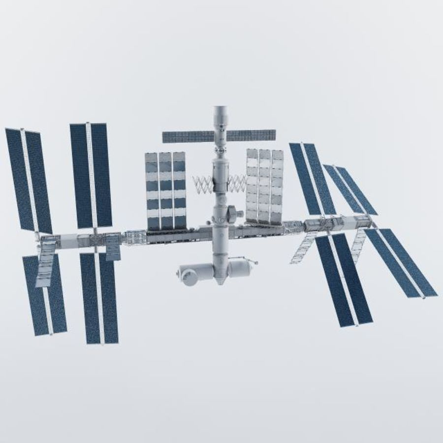 International Space Station royalty-free 3d model - Preview no. 4