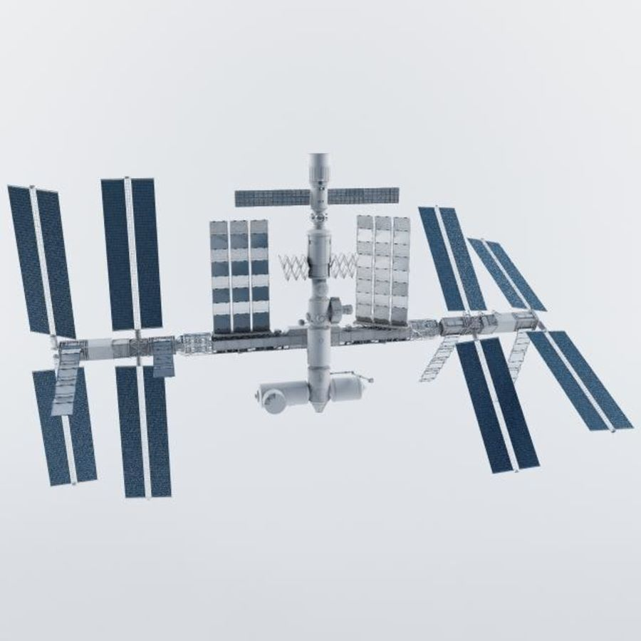 International Space Station royalty-free 3d model - Preview no. 3