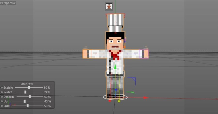 Minecraft Chef [V2.0] royalty-free 3d model - Preview no. 11