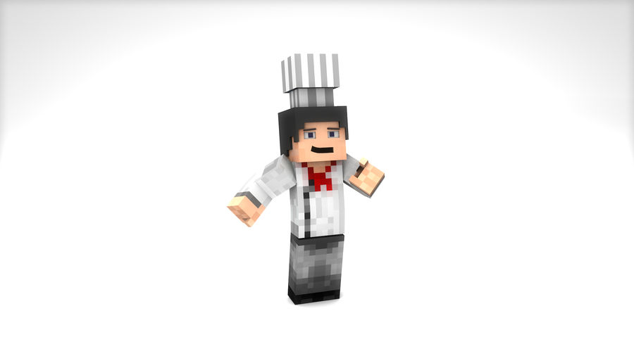 Minecraft Chef [V2.0] royalty-free 3d model - Preview no. 1