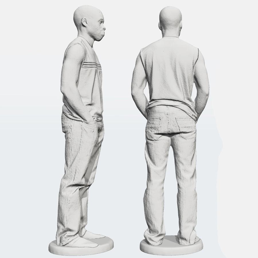 Afrikaanse mannelijke 3D-scan 2 royalty-free 3d model - Preview no. 2