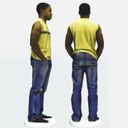 Skan 3D afrykańskiego mężczyzny 2 3d model