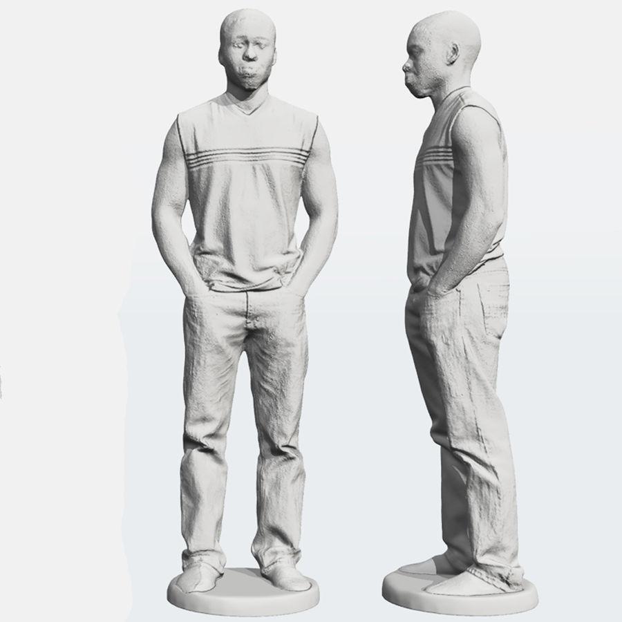 Afrikaanse mannelijke 3D-scan 2 royalty-free 3d model - Preview no. 4