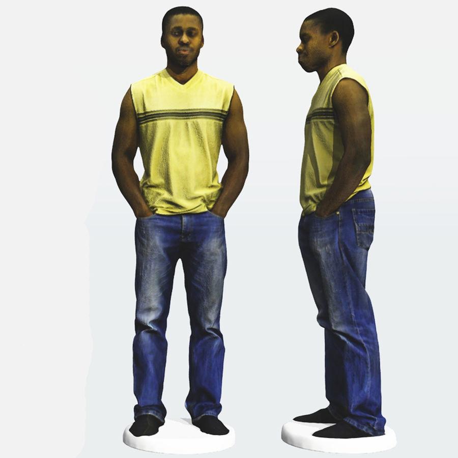 Afrikaanse mannelijke 3D-scan 2 royalty-free 3d model - Preview no. 3