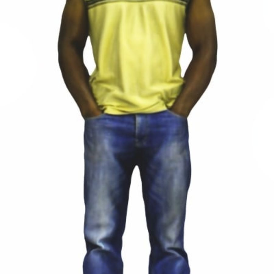 Afrikaanse mannelijke 3D-scan 2 royalty-free 3d model - Preview no. 5