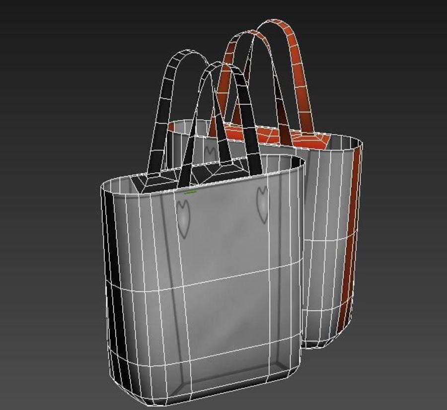 ハンドバッグ低ポリ02 royalty-free 3d model - Preview no. 7