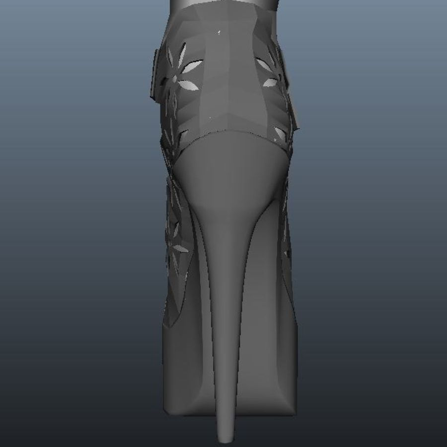 high heel shoe royalty-free 3d model - Preview no. 5